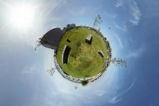 jardim junto ao Centro de Investigação da Fundação Champalimaud
