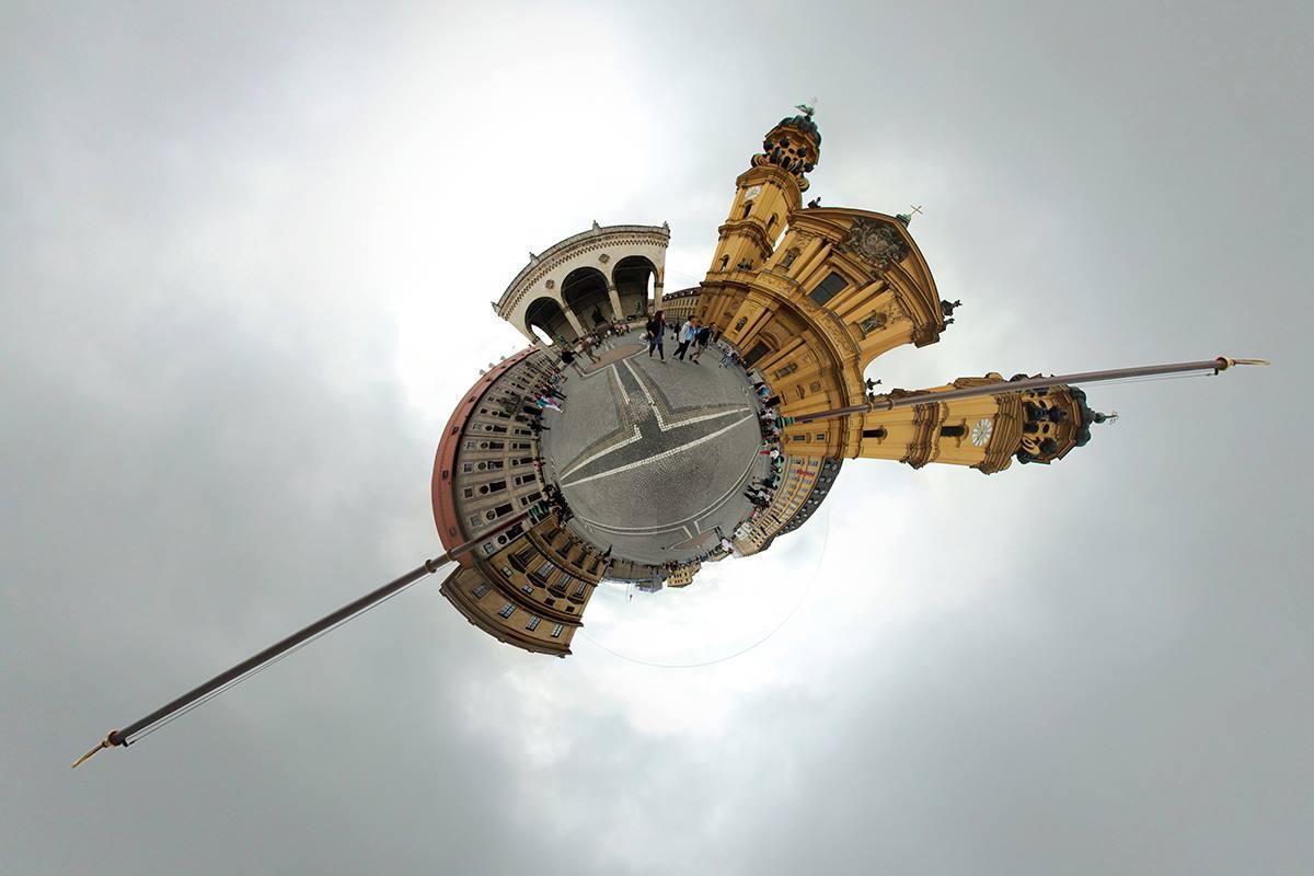 Odeonsplatz, Munique (sem tripé)