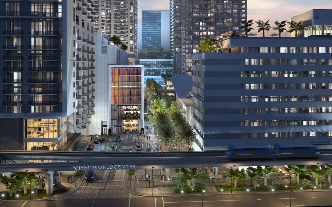 MIAMI WORLDCENTER'S MIXED-USE BLOCK H IS NOW RISING WITH PARKING. RETAIL & RESTAURANT SPACE   Elite International Realty