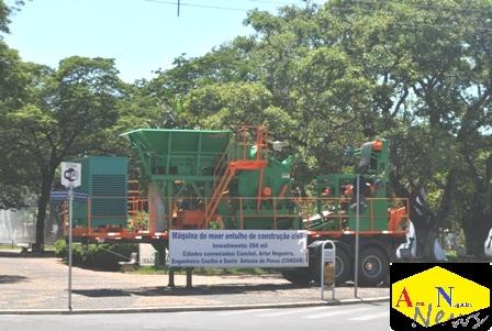 Consab adquire Máquina de Moer Entulho da Construção Civil.