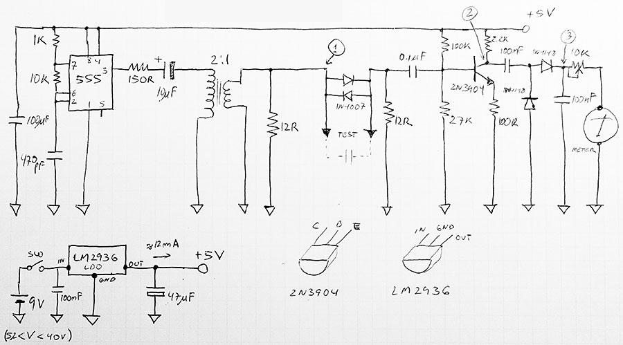 esr meter circuit schematics