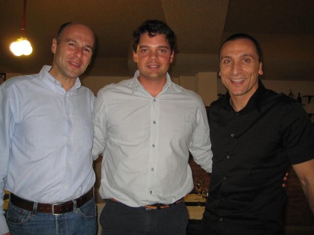 Foto com o João Brito e o João Moutão da Escola Superior de Desporto em Rio Maior.