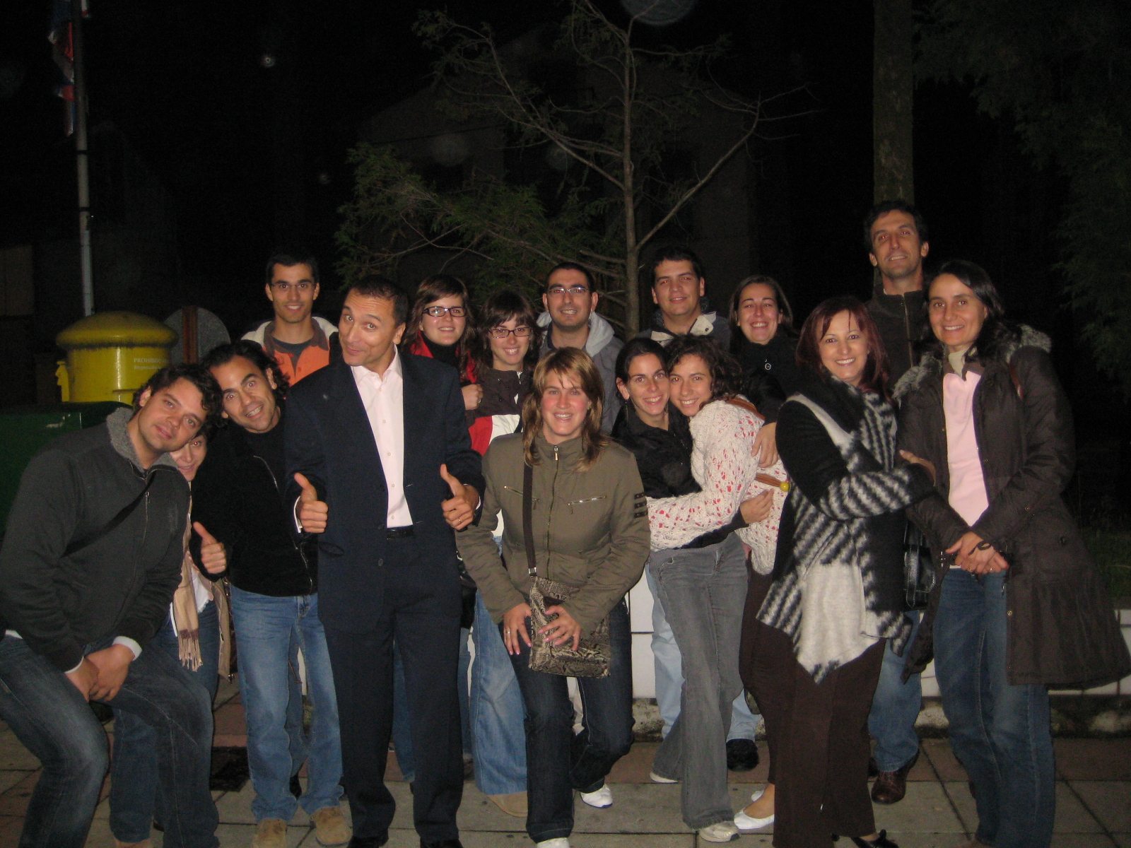 O animado grupo de participantes de Rio Maior