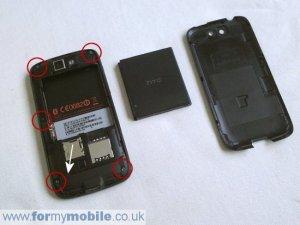 Как разобрать телефон HTC Desire • Блогофолио Романа Паулова