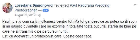 Review Paul Padurariu fotograf profesionist nunta iasi Ristretto de la mireasa Loredana