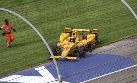 Ryan Hunter-Reay Wrecked
