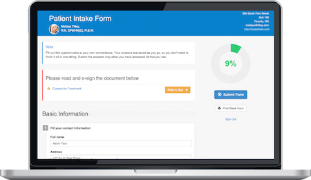 IntakeQ Online Forms