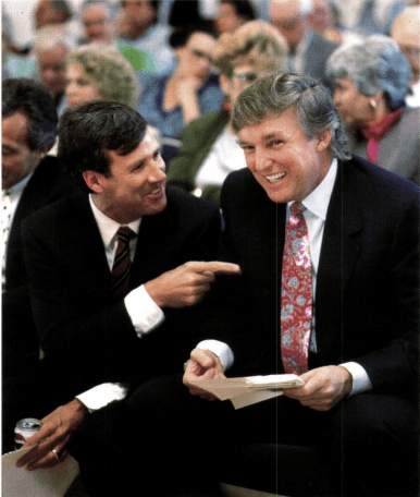 A picture of Donald Trump with Paul Rampell in 1993