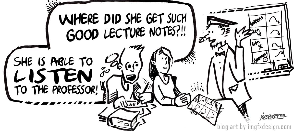 Providing Lecture Slides Enhances Educational Experience