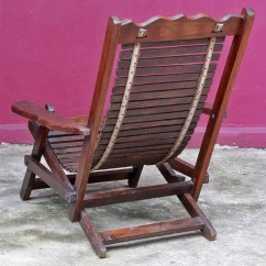 Folding Chair Cart Small White Kitchen Table And 2 Chairs Old Thai Teak Slatted Deck