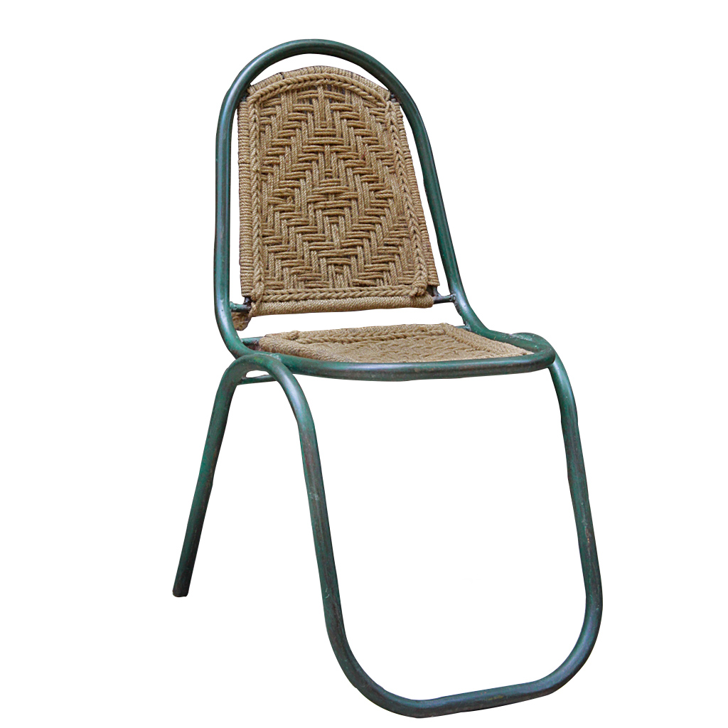 steel chair buyers in india recliner indiamart indian green metal and macrame chairs