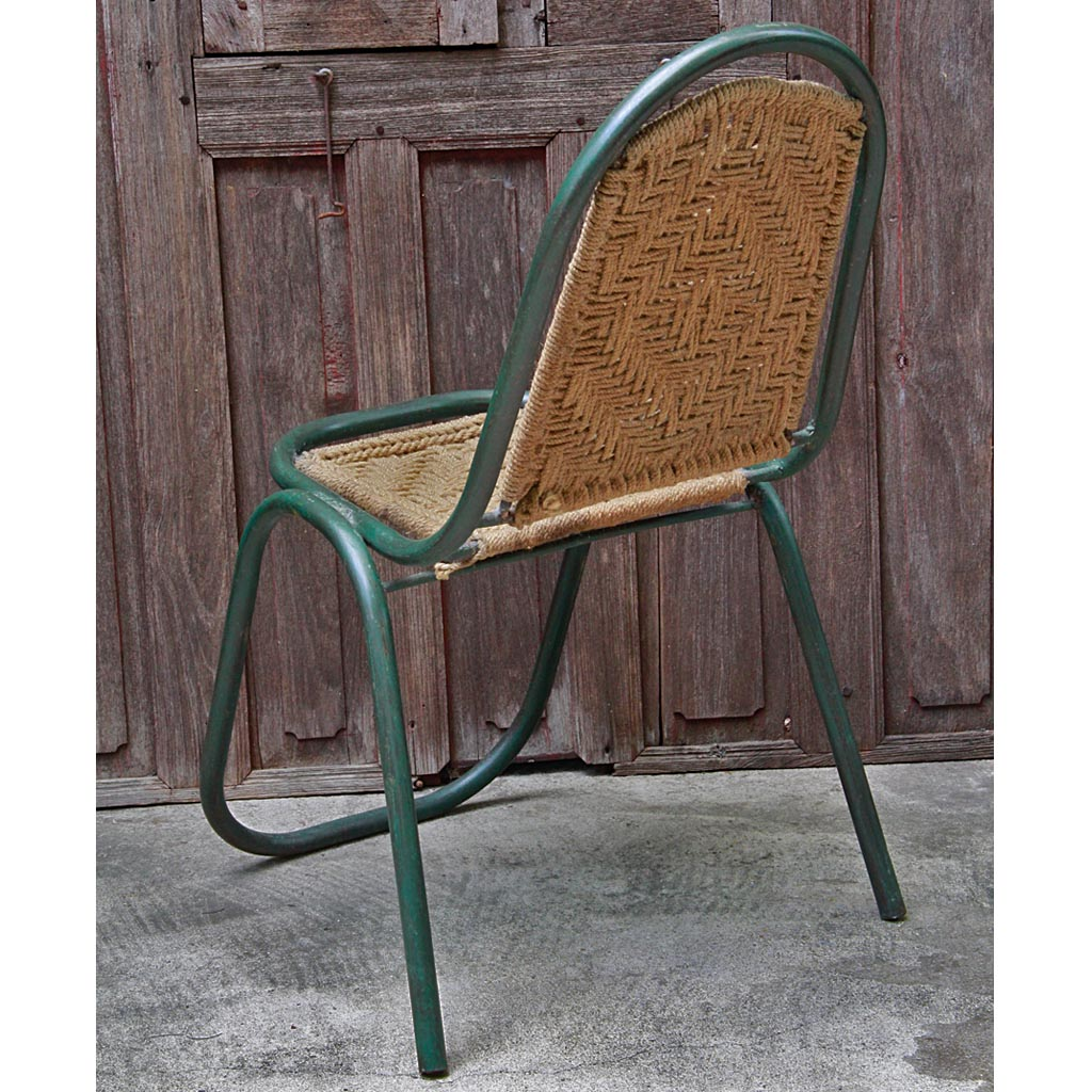 steel chair buyers in india zero gravity lounge chairs indian green metal and macrame