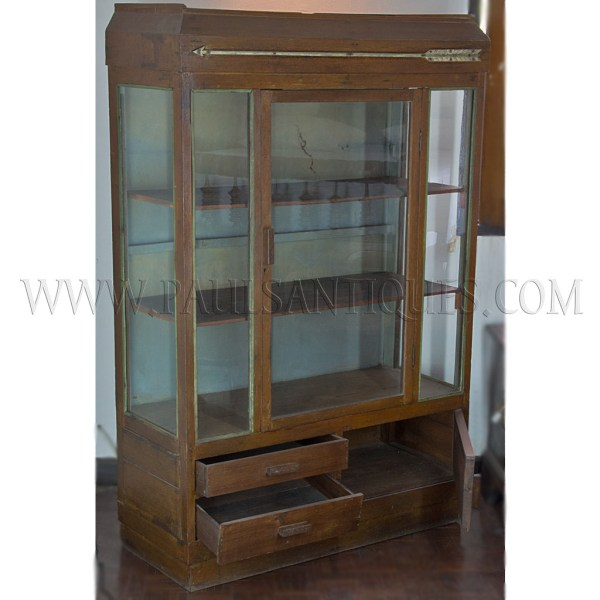Thai Art-deco Display Cabinet With Original Paint And