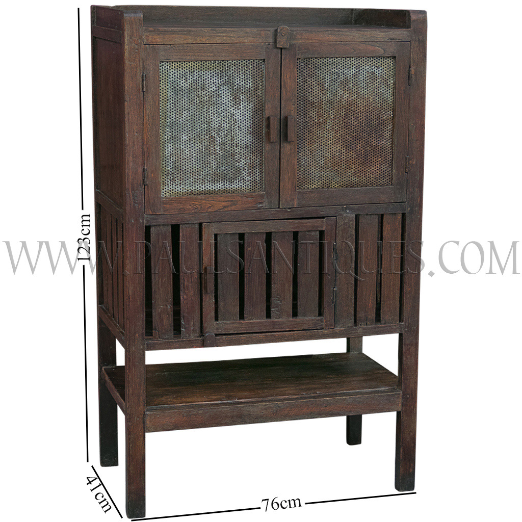 teak kitchen cabinets bridge faucets old thai cabinet meat safe with original