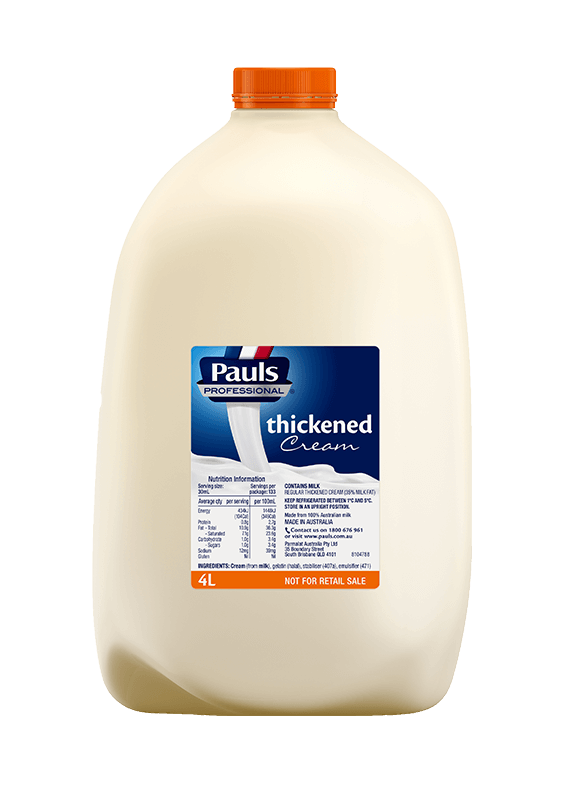 Thickened Cream 4L  Pauls Export Website