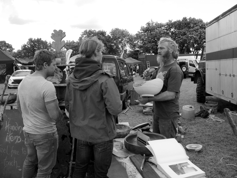 This is Malcolm Mc Andrew explaining his work. His trailer developed a problem and he had to abandon it for a season but arrived less equipped. But he forged on and did the show. That's the fighting spirit of lifestyle woodworkers.