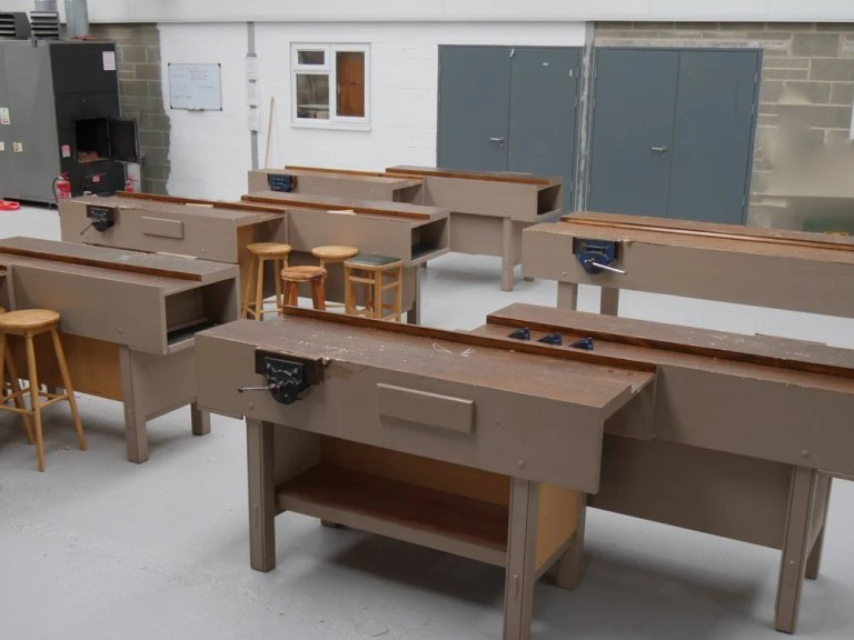 Benches are ready fir the first intake of students here in England.