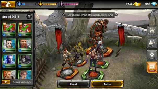 Heroes Of Dragon Age combat
