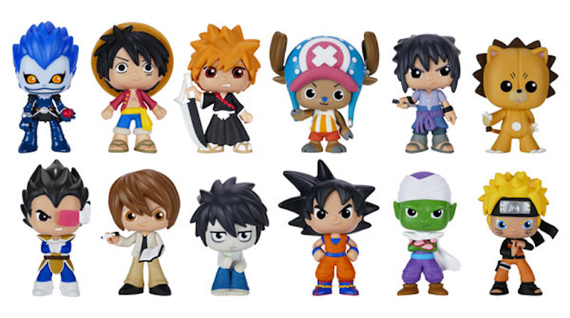Funko Mystery Minis Best Of Anime S2 Death Note, Dragonball Z, One Piece, Bleach 01