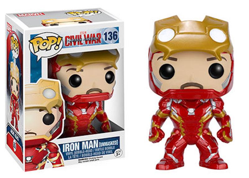 Funko POP! Marvel Captain America Civil War 136 Iron Man Unmasked