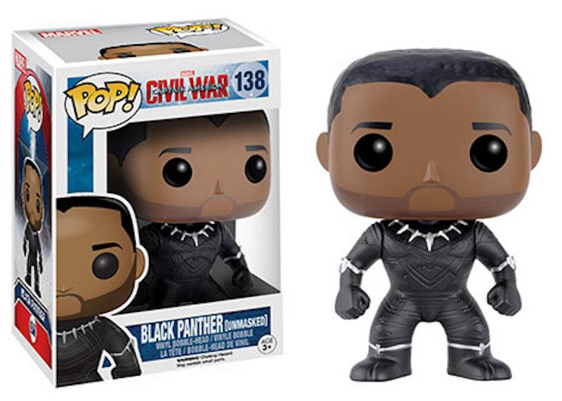 Funko POP! Marvel Captain America Civil War 138 Black Panther unmasked