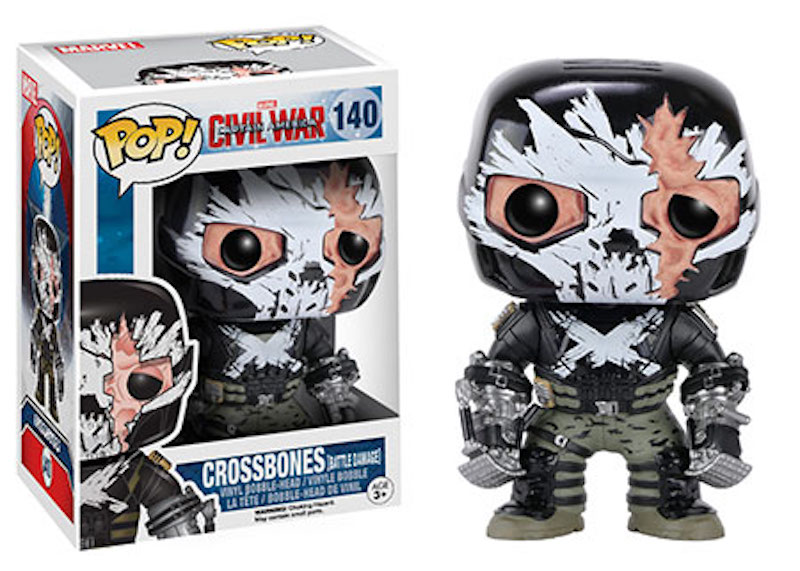 Funko POP! Marvel Captain America Civil War 140 Crossbones battle damage