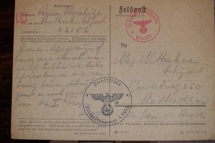 Originele postkaart van Leo Strack van Schijndel juni 1942