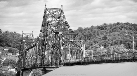 Condemned Steel Bridge over the Ohio River in Benwood WV