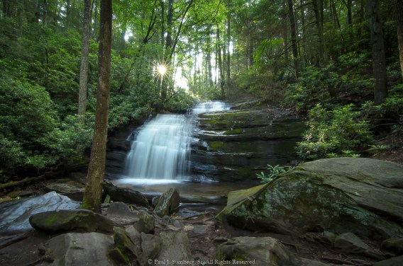 A short hike on the A.T. before sunrise brought me to Long Creek Falls.