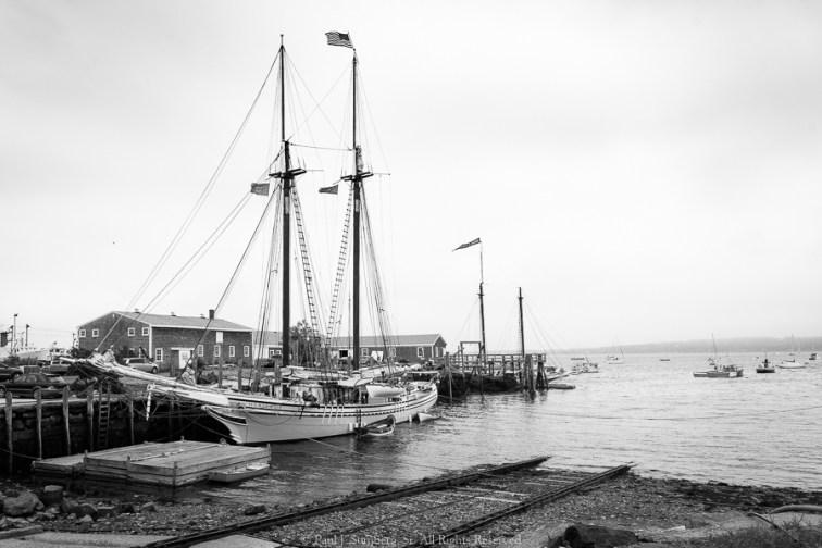 The schooner Heritage in Rockland Baine