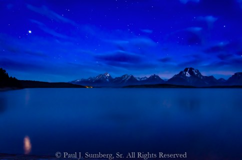Stars and Grand Teton