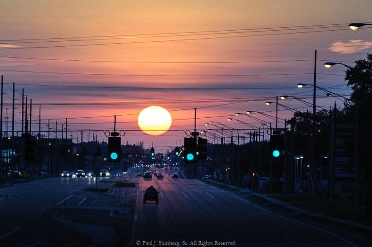 Sunrise on Highway 60 in Brandon Florida