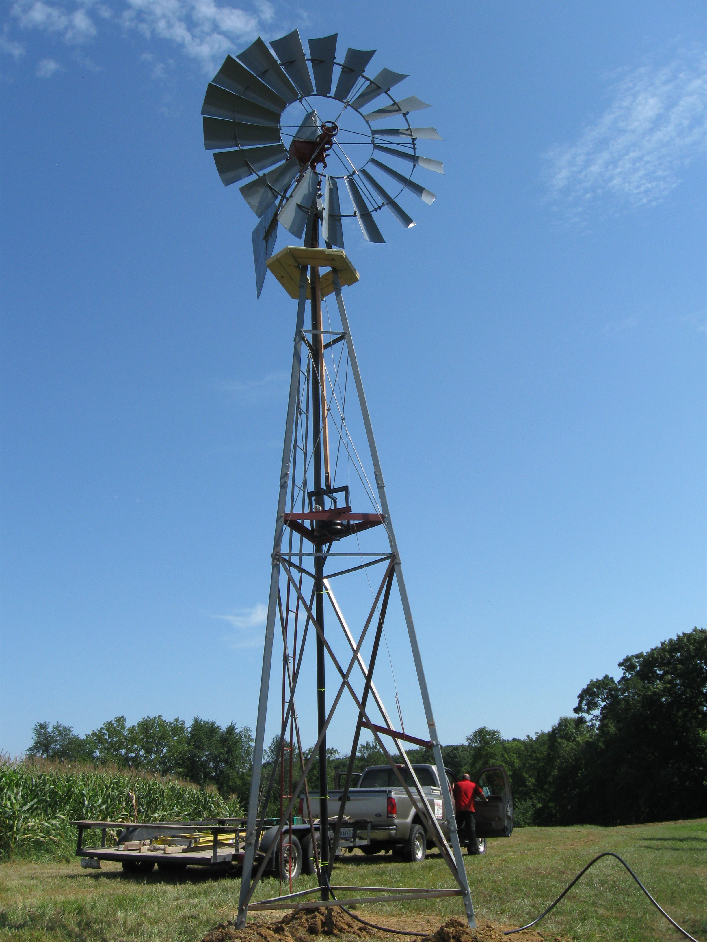 Farm Pumps Aerator Pond