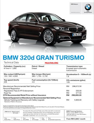 BMW 3 Series Gran Turismo CKD now available: 328i GT Sport RM330k