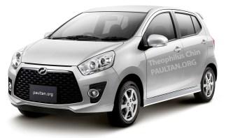 perodua new release carPerodua Axia  first photo of P2s global EEV released