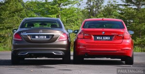w205 mercedes-benz c-class vs f30 bmw 3 series