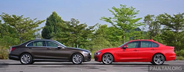 W205_Mercedes-Benz_C-Class_vs_F30_BMW_3_Series_ 014