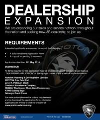 Proton dealership expansion