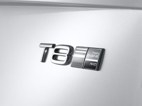 Emblem Twin Engine T8 Volvo S90 Inscription White