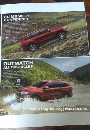 2016 Ford Everest Malaysia brochure 3