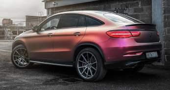 Mercedes-Benz GLE Coupe multicolour wrap 2