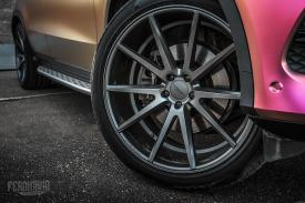 Mercedes-Benz GLE Coupe multicolour wrap 5