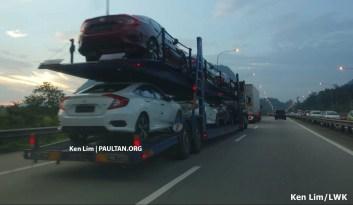 2016 Honda Civic spotted trailer 5