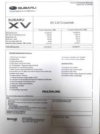 Subaru XV Crosstrek price