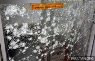 ballistic-resistant glass effects of grenade