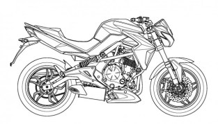 Kymco patents 650 cc middle-weight motorcycle design based on