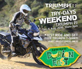 Triumph Try-Days durianfest