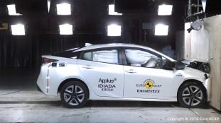 Fourth-gen Toyota Prius Euro NCAP 3