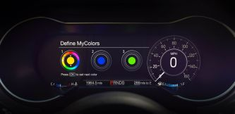 2018 Ford Mustang 12-inch LCD digital instrument cluster with MyColor
