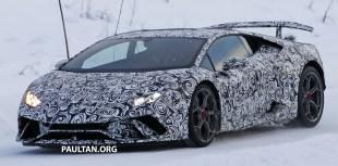 Lamborghini Huracan Performante spyshots 2